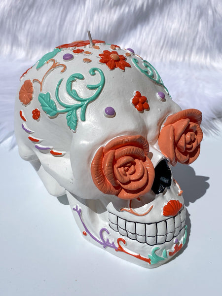 Rose Gold Skull Candle 1001g