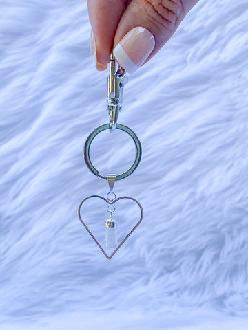 Love Crystals Keyring Selenite