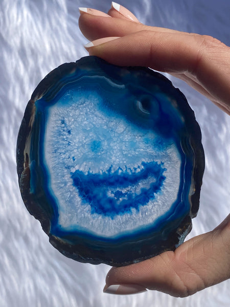 Agate Blue Happy Slice