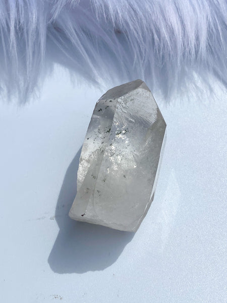Clear Quartz Point with Chlorite Phantom and Record Keeper 100g