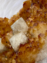 Load image into Gallery viewer, Citrine Cluster with Calcite and Druzy Inclusions 1853g
