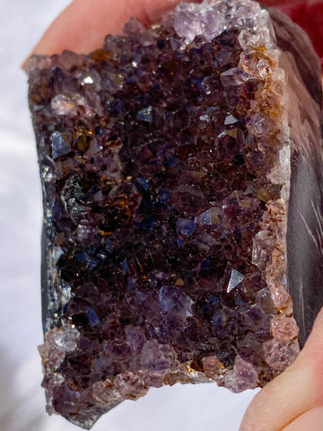 Amethyst Cluster with Cacoxenite 200g