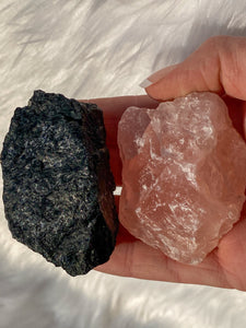 Rose Quartz and Black Tourmaline House Protection 108g/166g