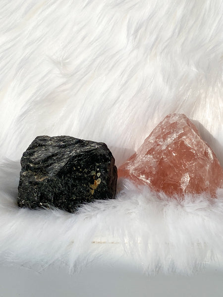Rose Quartz and Black Tourmaline House Protection 346g/386g
