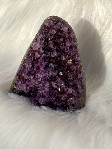 Amethyst Cluster CutBase with Inclusions 160g