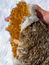 Load image into Gallery viewer, Citrine Geode Cluster with Druzzy Calcite Inclusions 1624g