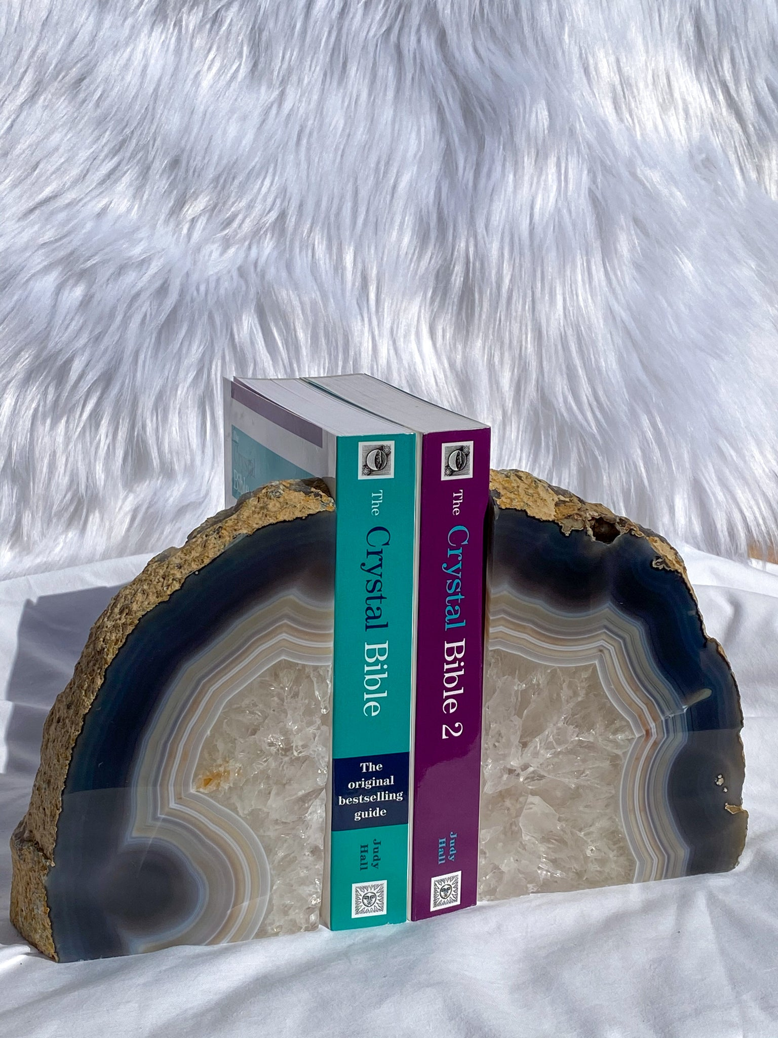 Agate with Quartz Bookend 2257g