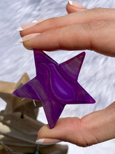 Load image into Gallery viewer, Agate Star Purple Christmas Tree Ornament