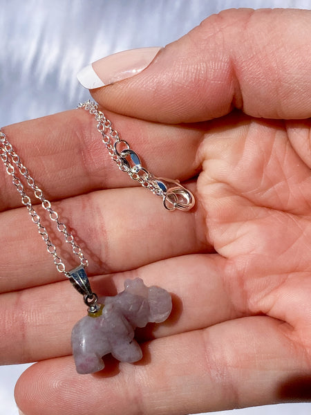 Elephant Ruby Feldspar Quartz Mini Pendant