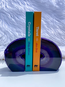 Agate Purple Druzy Bookend 1365g
