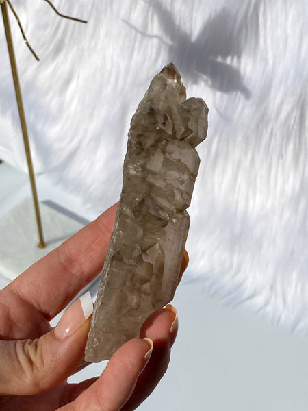 Elestial Smoky Quartz Natural 186g