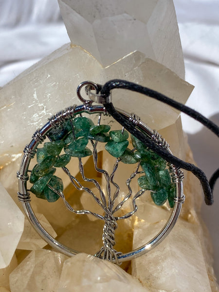 Tree of Life Pendant Green Aventurine