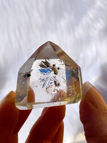Clear Quartz with Inclusions Polished Point 40g