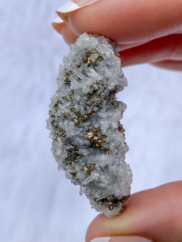 Clear Quartz and Pyrite Cluster 14g