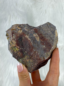 Desert Polychrome Jasper Natural Heart Shape 424g