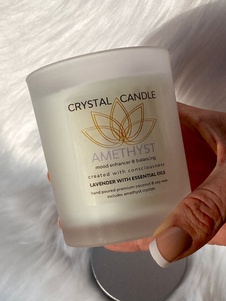 Amethyst Candle - Mode Enhancer and Balancing