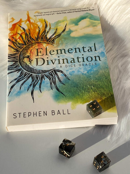 Elemental Divination - Dice Oracle with Sardonyx/Moss Agate Dice - Book