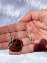 Load image into Gallery viewer, Red Obsidian Heart Pendant