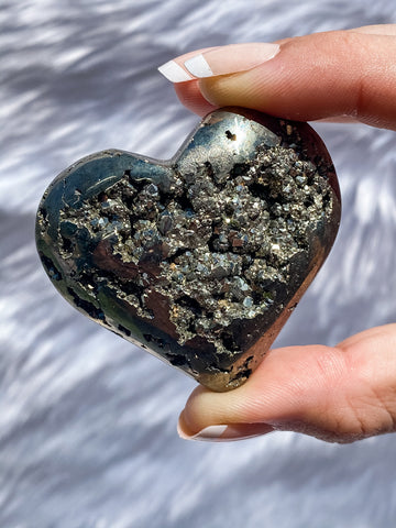 Pyrite Cluster Heart 130g