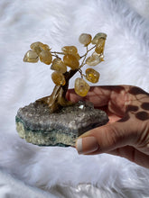 Load image into Gallery viewer, Crystal Bonsai Tree Citrine on Amethyst Base