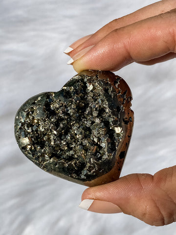 Pyrite Cluster Heart 107g
