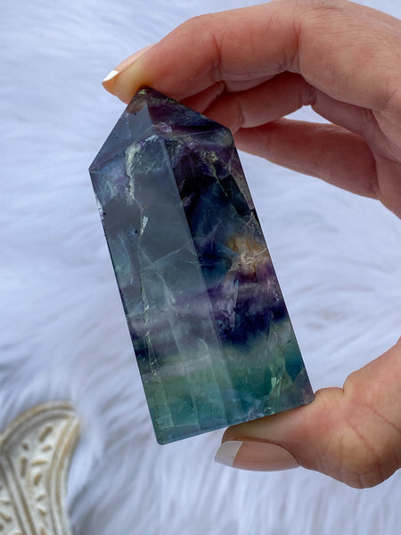 Fluorite Polished Points 229g