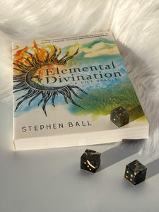Elemental Divination - Dice Oracle with Sardonyx/Moss Agate Dice