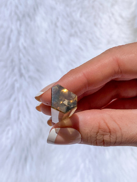 Citrine Polished Point Natural with Phantom Inclusions 10g