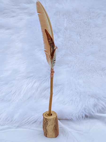 Gaia Healing Wand with Wooden Stand