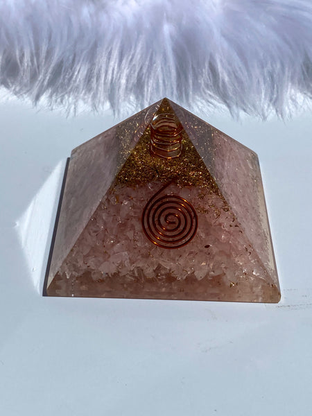 Orgonite Pyramid Rose Quartz 230g