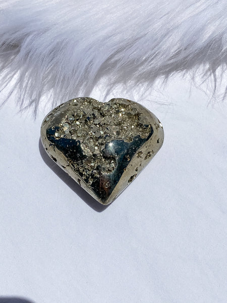 Pyrite Cluster Heart 240g