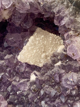 Load image into Gallery viewer, Amethyst CutBase with Calcite Druzy Inclusions 1356g