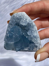 Load image into Gallery viewer, Celestite CutBase Cluster 187g