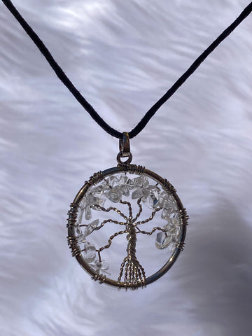 Tree of Life Pendant Clear Quartz