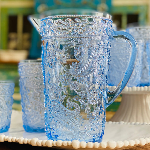 NEW! Delphinium Blue Acrylic Pitcher