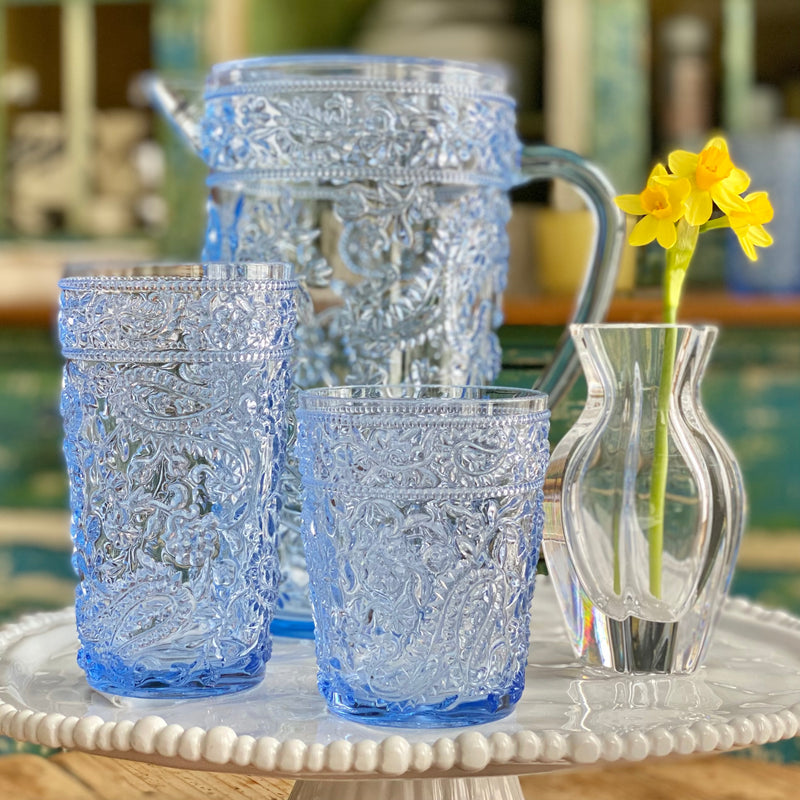 NEW! Delphinium Blue Acrylic Tumblers Set of 4