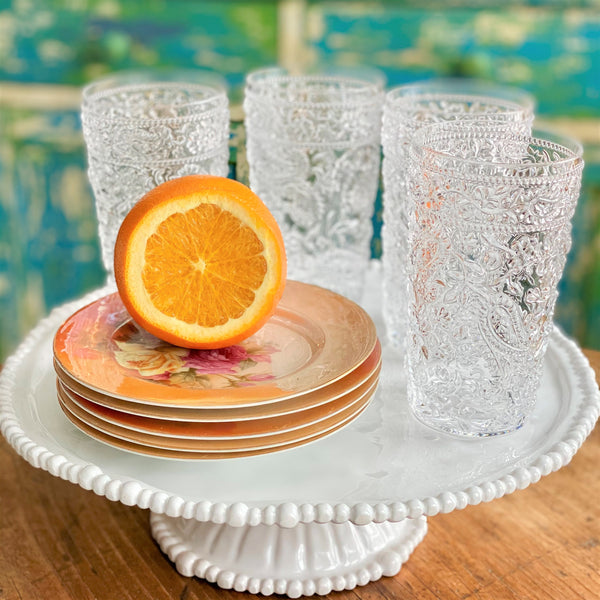 NEW! Lucent Clear Acrylic Highball Glasses Set of 4