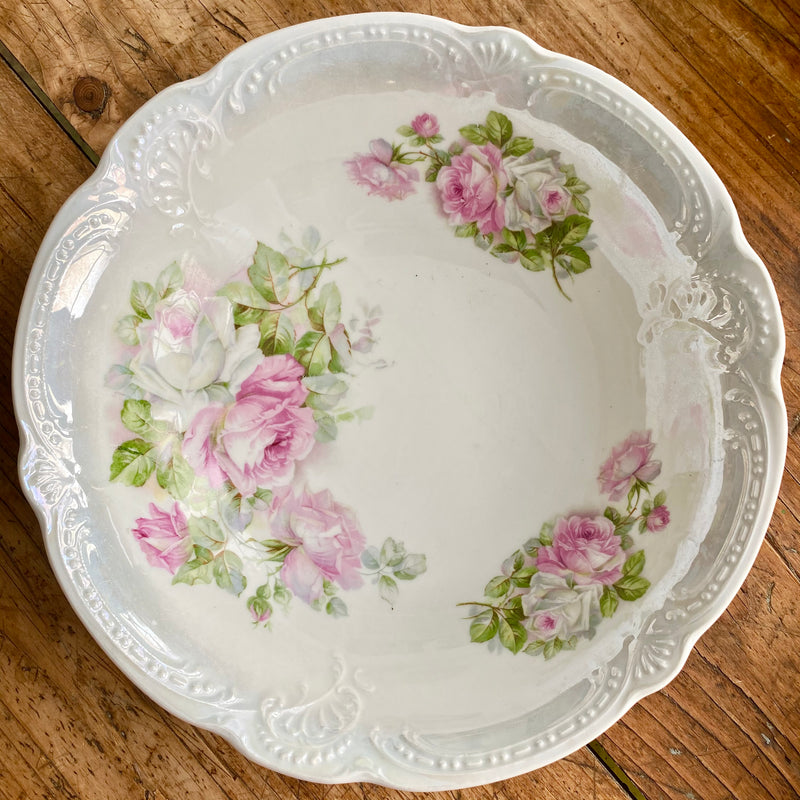 Soft Pink Rose Motif Bowl