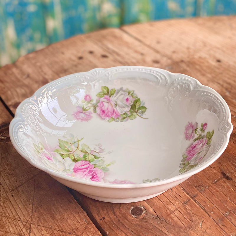 Soft Pink Romantic Rose Motif Bowl
