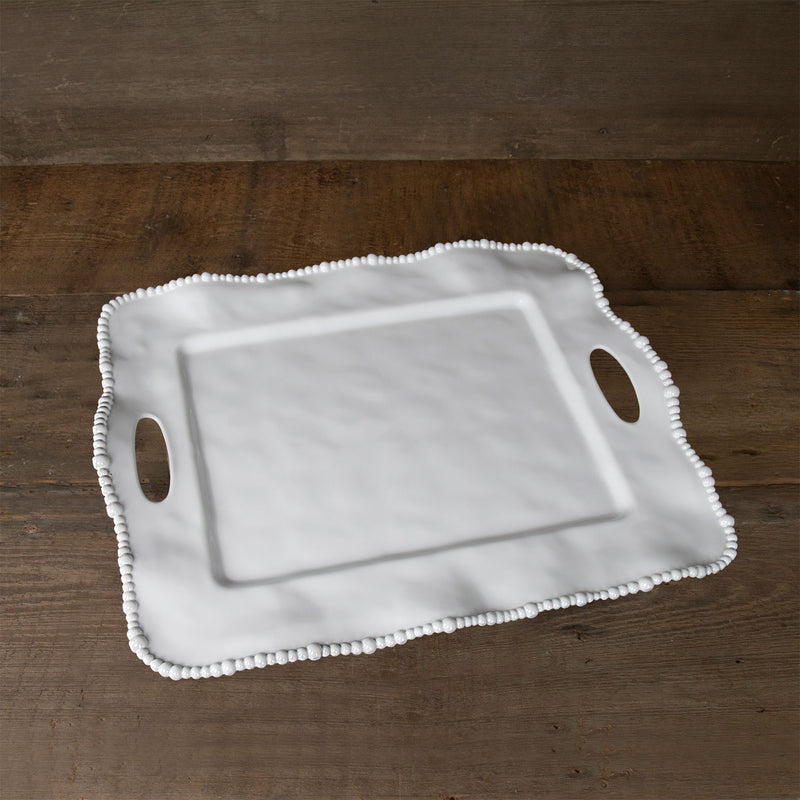 Beatriz Ball Rectangular Melamine Tray with Handles