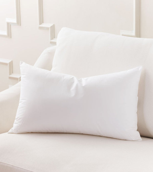Premium Large Lumbar Down Feather Pillow Insert