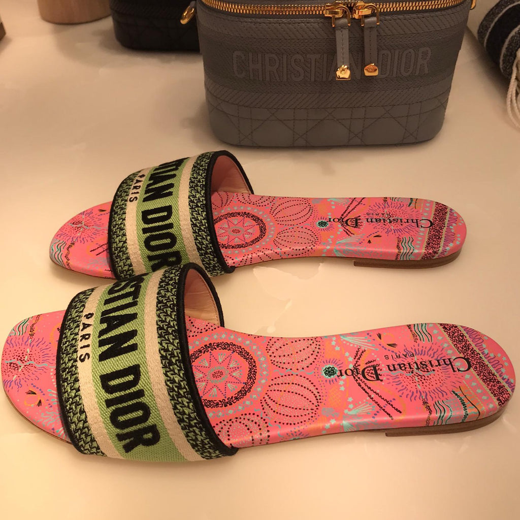 Dior Dway multicolor slides Cruise 2021