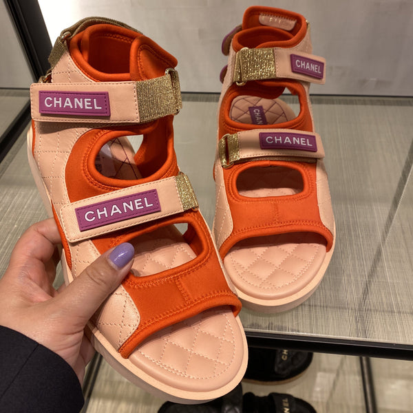 CHANEL Spring-Summer 2021 red sandals
