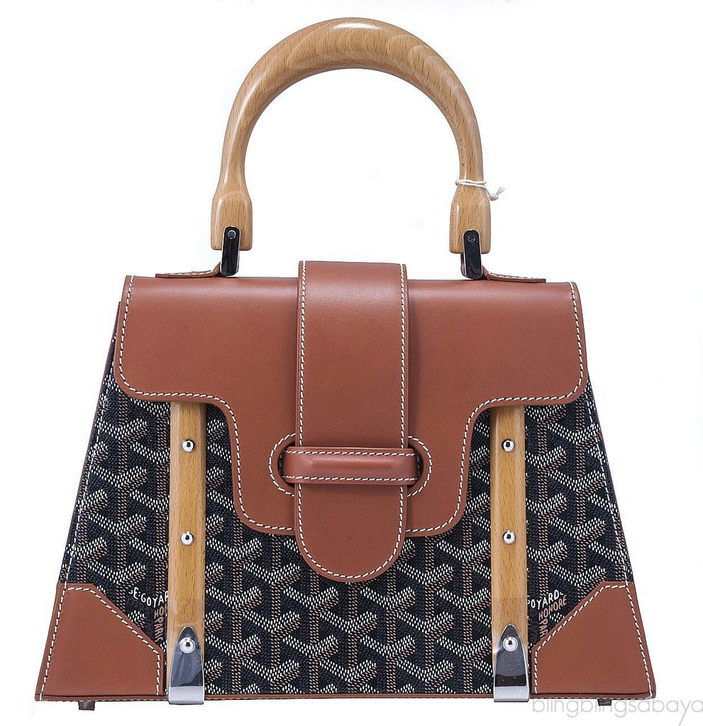 Goyard Saigon PM tote brown