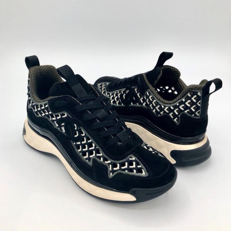 CHANEL black suede Sneakers Cruise 2021