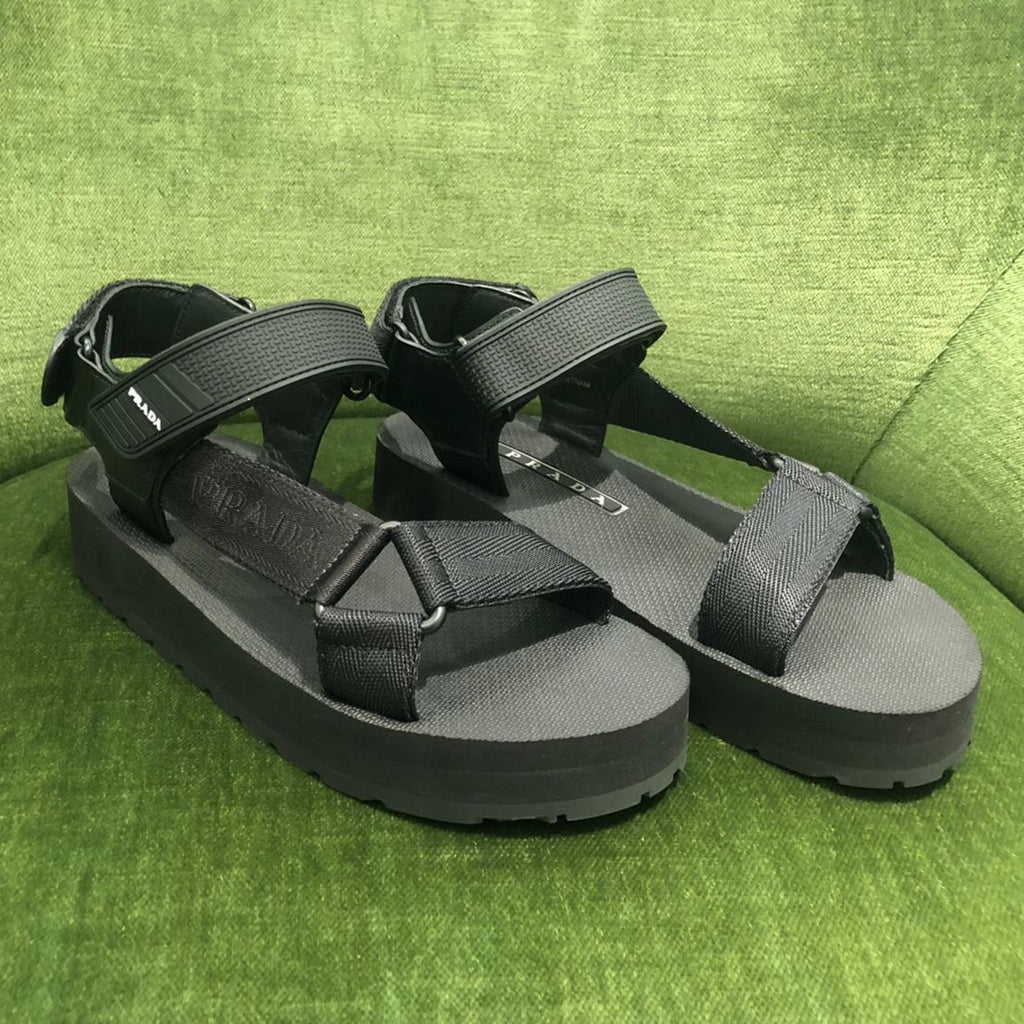 Prada black tech sandals