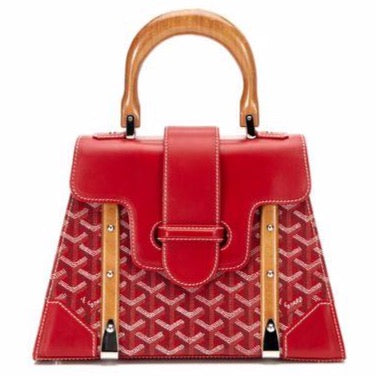 Goyard Saigon PM tote red