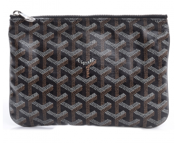Goyard Senat small pouch in black color
