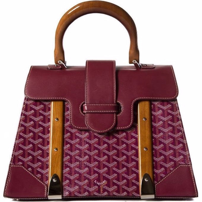 Goyard Saigon MM tote burgundy