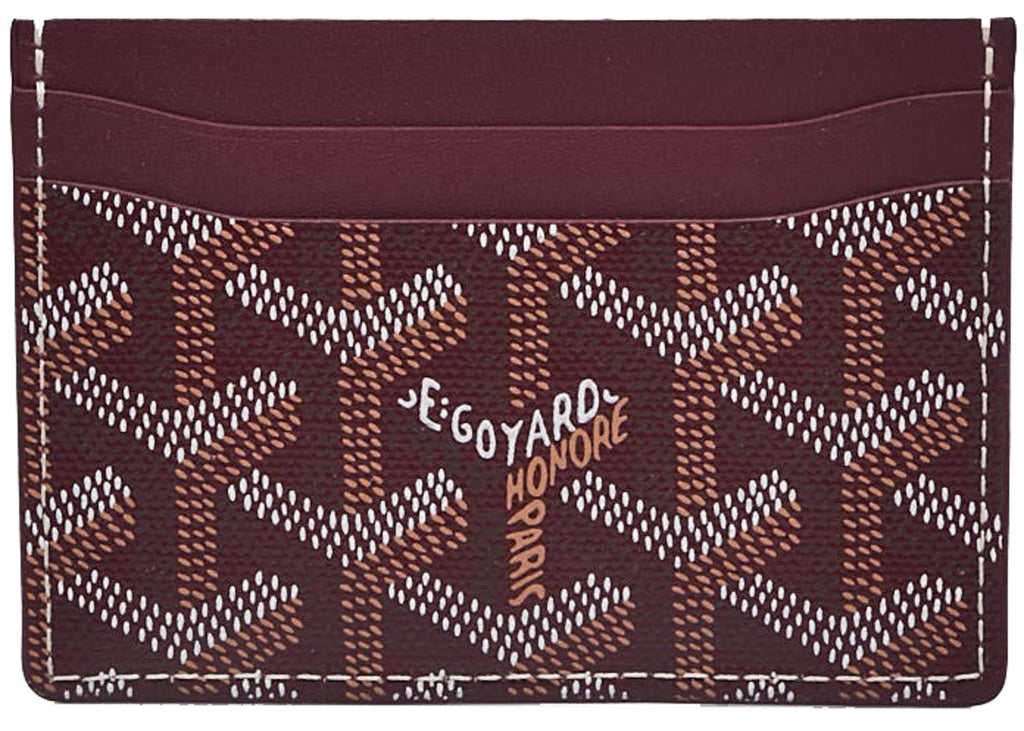 Goyard St. Sulpice card holder in special colors burgundy
